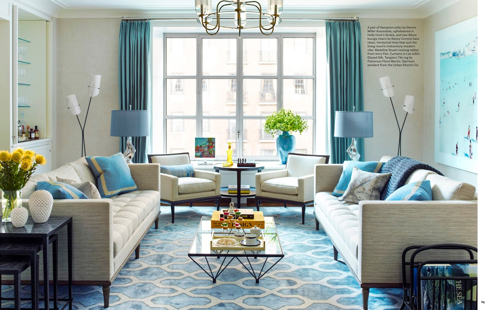 Light-blue Living Room
